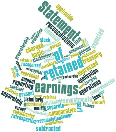statement: Abstract word cloud for Statement of retained earnings with related tags and terms
