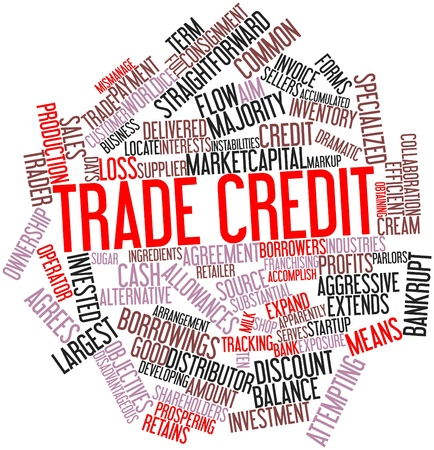 Abstract word cloud for Trade credit with related tags and terms Stock Photo - 16446041
