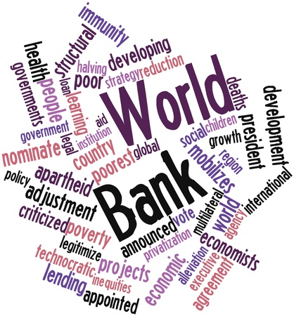 treasurer: Abstract word cloud for World Bank with related tags and terms