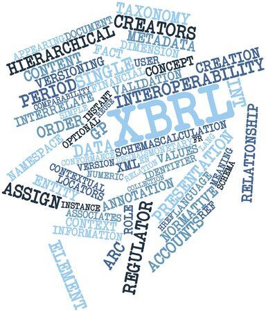 contextual: Nube palabra abstracta para XBRL con las etiquetas y t�rminos relacionados