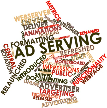 Abstract word cloud for Ad serving with related tags and terms Stock Photo - 16468075