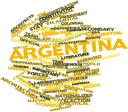 guerrilla: Abstract word cloud for Argentina with related tags and terms Stock Photo