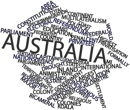 kilometre: Abstract word cloud for Australia with related tags and terms