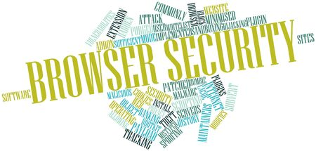 vulnerabilities: Abstract word cloud for Browser security with related tags and terms