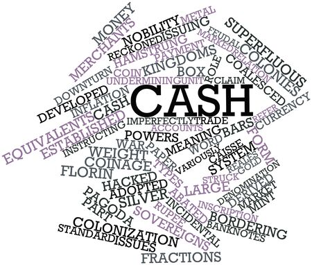 florin: Abstract word cloud for Cash with related tags and terms Stock Photo