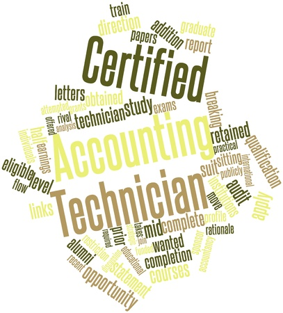 retained: Nube palabra abstracta para Técnico de Contabilidad Certificada con las etiquetas y términos relacionados Foto de archivo