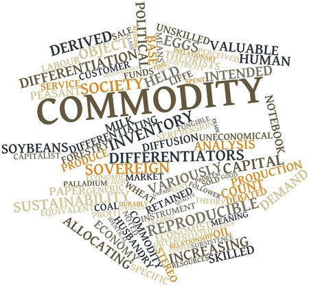 Abstract word cloud for Commodity with related tags and terms Stock Photo - 16468051