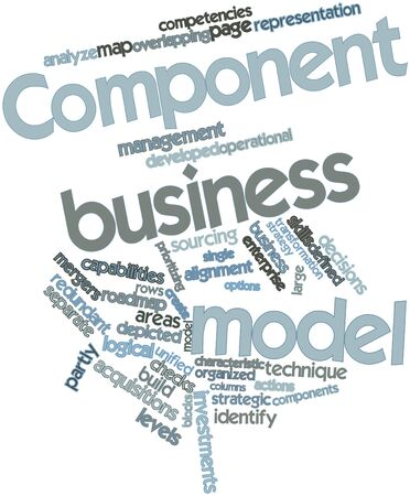 prioritizing: Abstract word cloud for Component business model with related tags and terms