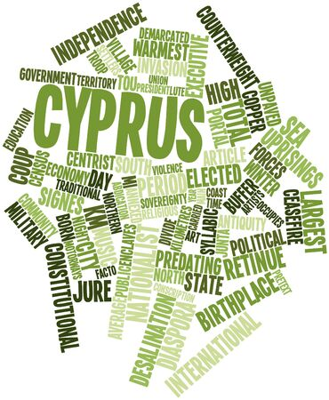 census: Abstract word cloud for Cyprus with related tags and terms