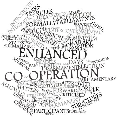 Abstract word cloud for Enhanced co-operation with related tags and terms photo