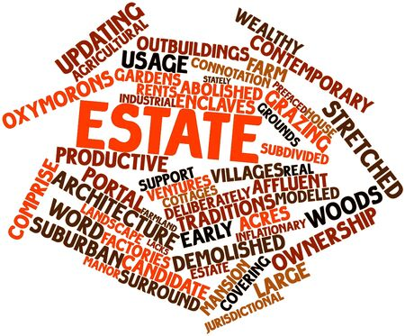 lacks: Abstract word cloud for Estate with related tags and terms