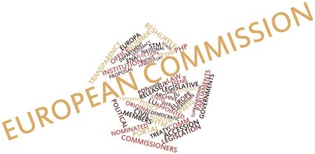 glossary: Abstract word cloud for European Commission with related tags and terms