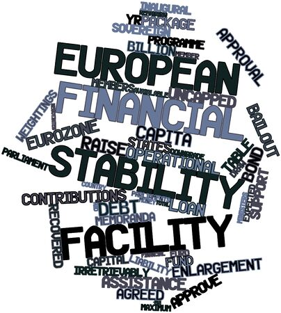 guarantor: Abstract word cloud for European Financial Stability Facility with related tags and terms