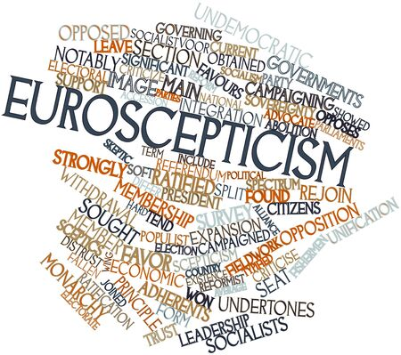 purported: Word cloud astratto per l'euroscetticismo con tag e termini correlati Archivio Fotografico