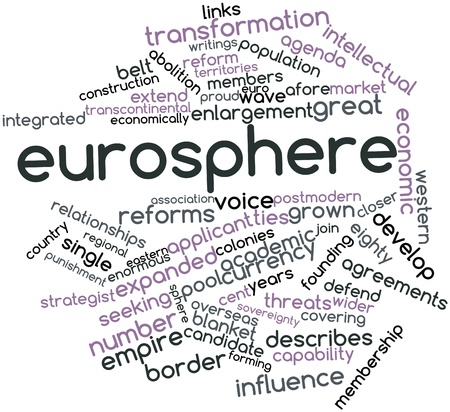 Abstract word cloud for Eurosphere with related tags and terms Stock Photo - 16467988
