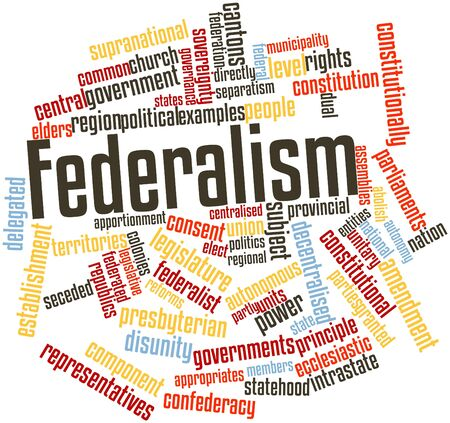 Abstract word cloud for Federalism with related tags and terms Stock Photo - 16468083