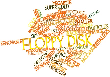 sold small: Abstract word cloud for Floppy disk with related tags and terms