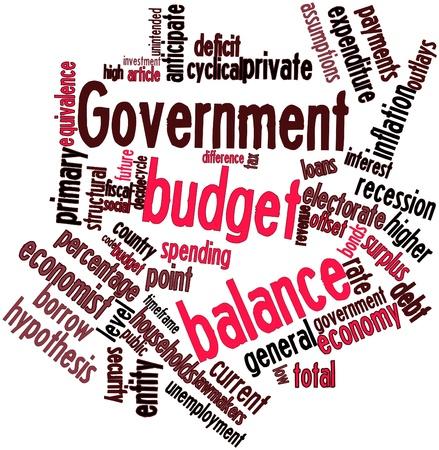 encogimiento: Nube palabra abstracta para Saldo presupuestario con las etiquetas y t�rminos relacionados