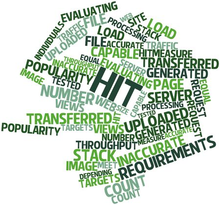 transferred: Abstract word cloud for Hit with related tags and terms Stock Photo