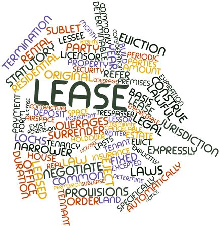 breach: Abstract word cloud for Lease with related tags and terms