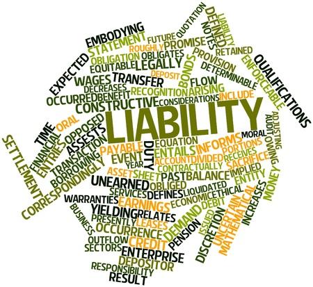 retained: Nube palabra abstracta por responsabilidad con las etiquetas y términos relacionados