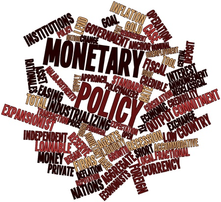 monetary policy: Abstract word cloud for Monetary policy with related tags and terms