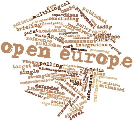 Abstract word cloud for Open Europe with related tags and terms Stock Photo - 16468061
