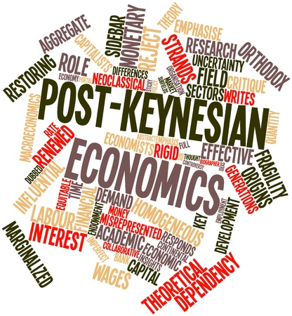marginalized: Abstract word cloud for Post-Keynesian economics with related tags and terms