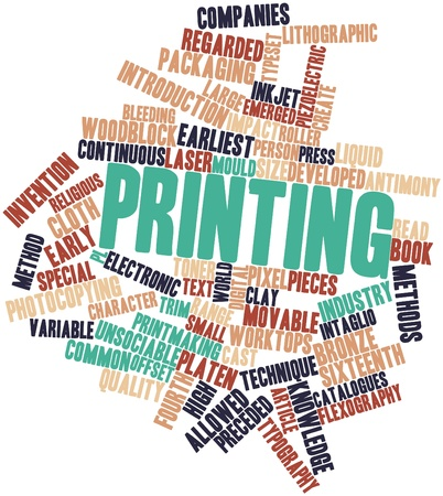 surviving: Abstract word cloud for Printing with related tags and terms Stock Photo