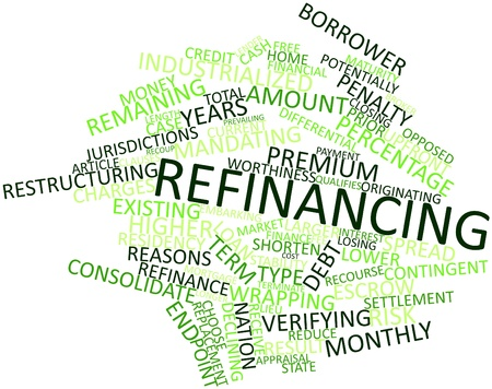 in escrow: Abstract word cloud for Refinancing with related tags and terms