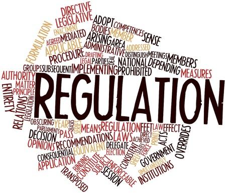 parliaments: Word cloud astratto per regolamento con tag correlati e termini