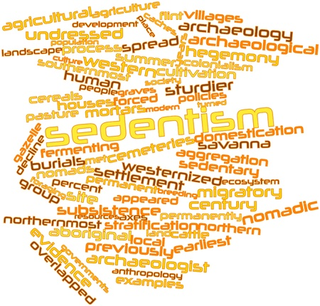Abstract word cloud for Sedentism with related tags and terms Stock Photo - 16468102