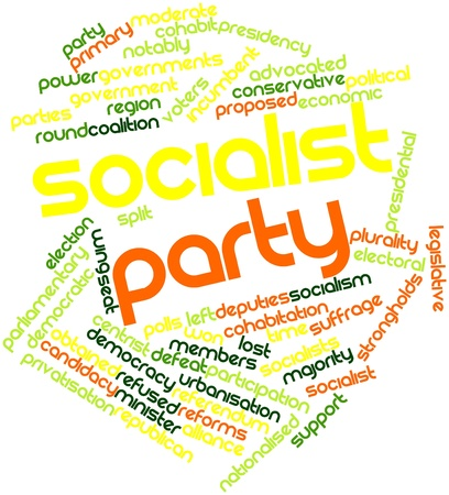 Abstract word cloud for Socialist Party with related tags and terms Stock Photo - 16467925