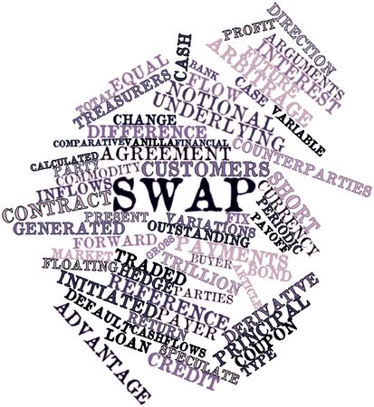 negative equity: Abstract word cloud for Swap with related tags and terms Stock Photo