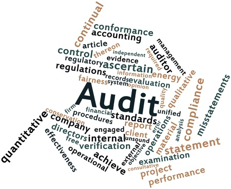 Abstract word cloud for Audit with related tags and terms photo