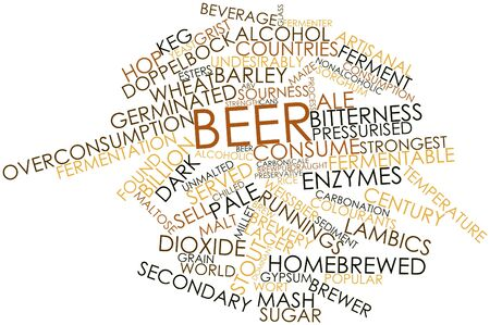 ferment: Abstract word cloud for Beer with related tags and terms