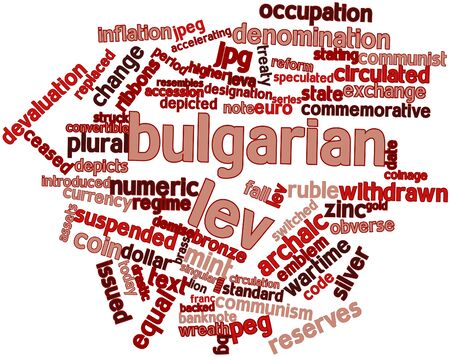 episodes: Abstract word cloud for Bulgarian lev with related tags and terms