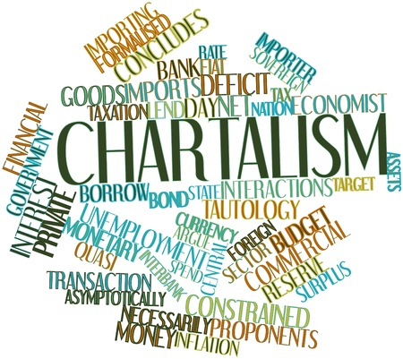 interbank: Abstract word cloud for Chartalism with related tags and terms