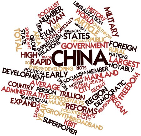 major force: Abstract word cloud for China with related tags and terms
