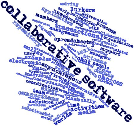 deliverable: Abstract word cloud for Collaborative software with related tags and terms