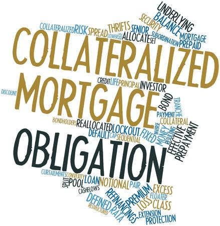 director de escuela: Nube palabra abstracta para cubrir las obligaciones hipotecarias garantizadas con las etiquetas y términos relacionados
