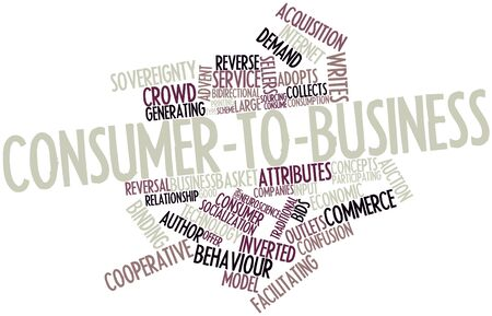 Abstract word cloud for Consumer-to-business with related tags and terms Stock Photo - 16467870