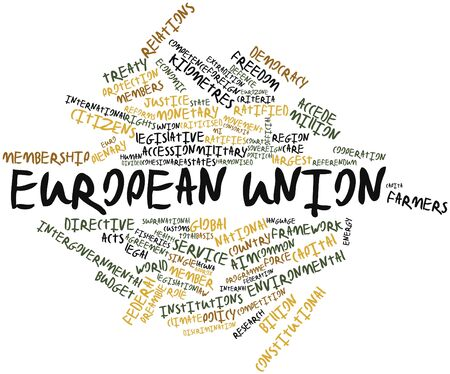 Abstract word cloud for European Union with related tags and terms Stock Photo - 16467955