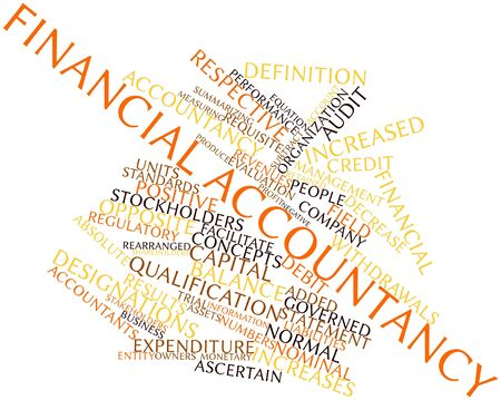 Abstract word cloud for Financial accountancy with related tags and terms Stock Photo - 16467959