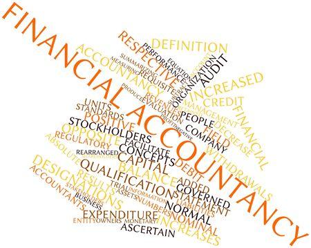 retained: Nube de palabras Resumen de la contabilidad financiera con las etiquetas y términos relacionados