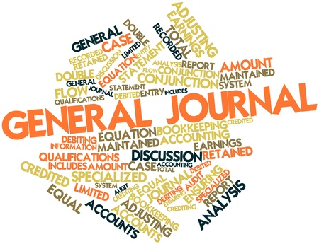 Abstract word cloud for General journal with related tags and terms Stock Photo - 16467917