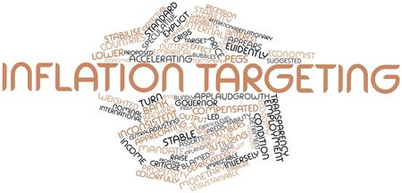 prevailing: Abstract word cloud for Inflation targeting with related tags and terms