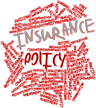 define: Abstract word cloud for Insurance policy with related tags and terms