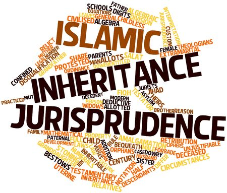 Abstract word cloud for Islamic inheritance jurisprudence with related tags and terms Stock Photo - 16468032