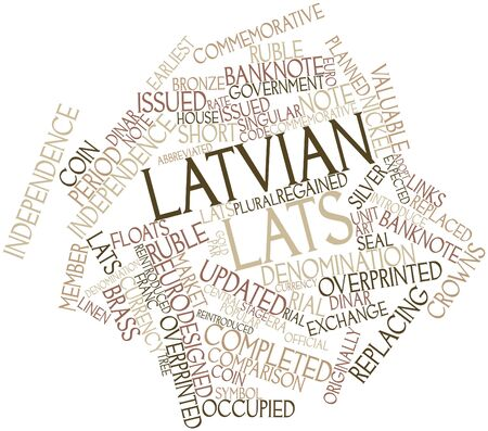 Abstract word cloud for Latvian lats with related tags and terms Stock Photo - 16468019